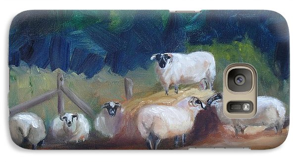 Galaxy Case featuring the painting King Of Green Hill Farm by Donna Tuten