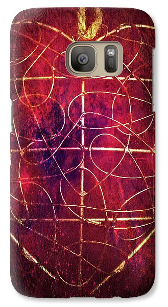 Galaxy Case featuring the photograph King Of Hearts by Linda Sannuti