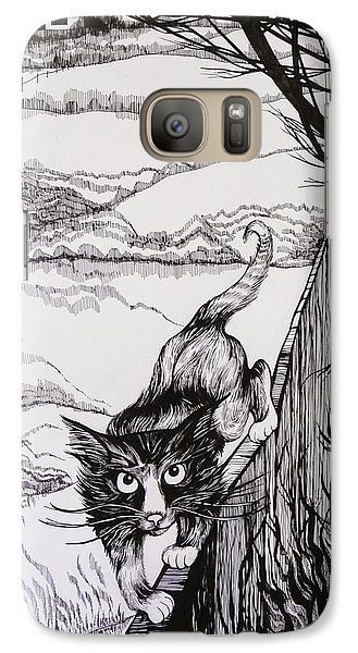 Galaxy Case featuring the drawing King Of Midnapore by Anna  Duyunova