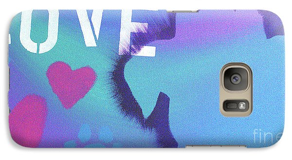 Galaxy Case featuring the painting King Of My Heart by Melissa Goodrich
