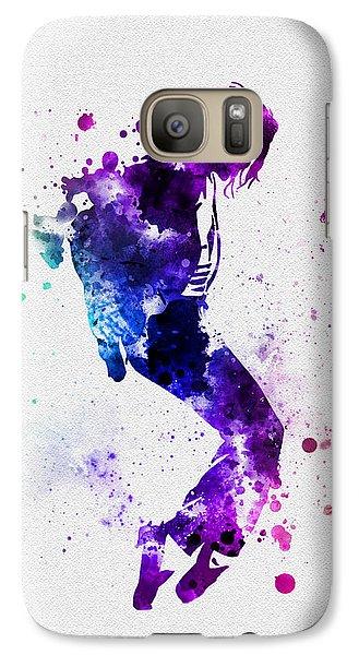 King Of Pop Galaxy S7 Case by Rebecca Jenkins