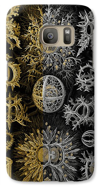 Galaxy Case featuring the digital art Kingdom Of Silver Single-celled Organisms  by Serge Averbukh