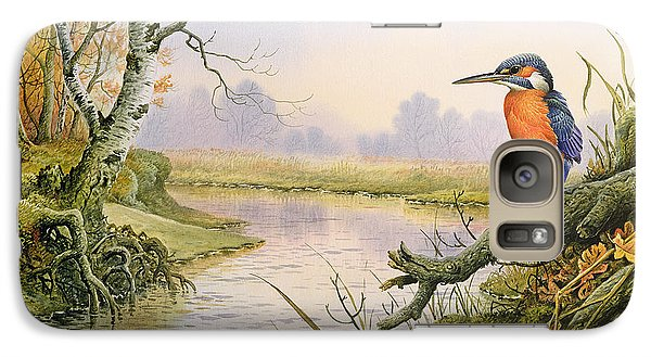 Kingfisher Galaxy S7 Case - Kingfisher  Autumn River Scene by Carl Donner