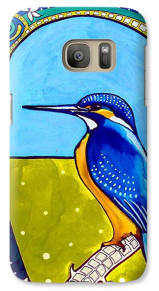 Galaxy Case featuring the painting Kingfisher by Dora Hathazi Mendes