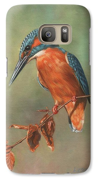 Kingfisher Galaxy S7 Case - Kingfisher Perched by David Stribbling
