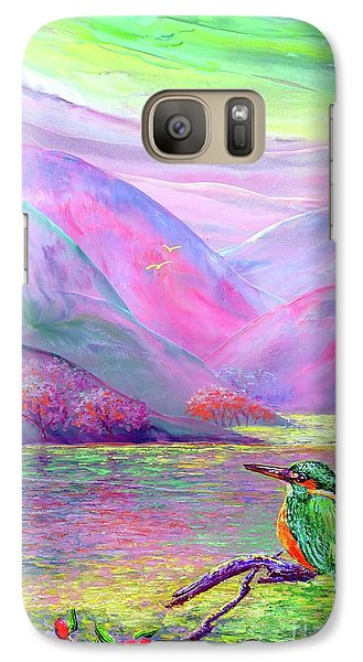 Kingfisher, Shimmering Streams Galaxy Case by Jane Small