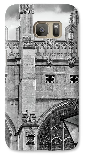 Galaxy Case featuring the photograph Kings College Chapel Cambridge Exterior Detail by Gill Billington