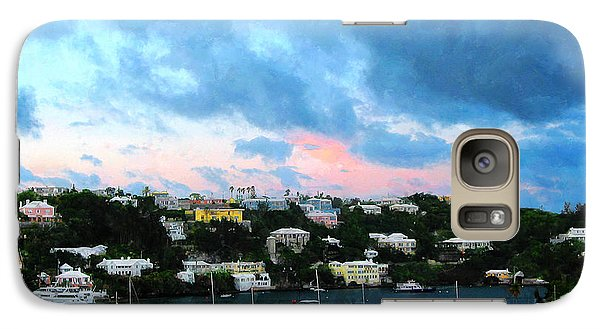 Galaxy Case featuring the photograph King's Wharf Bermuda Harbor Sunrise by Susan Savad