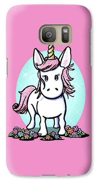 Kiniart Unicorn Sparkle Galaxy S7 Case by Kim Niles