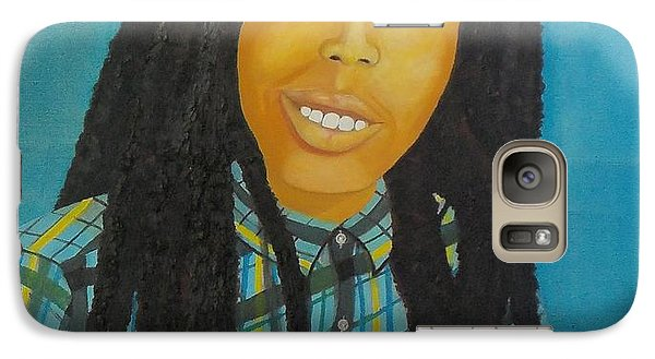 Galaxy Case featuring the painting Kinshasa My First Grandchild by Nicole Jean-Louis