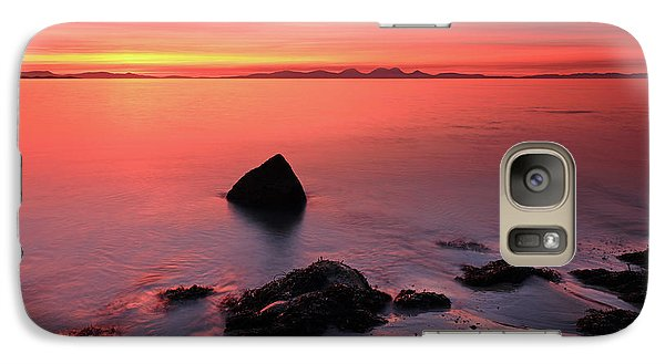 Galaxy Case featuring the photograph Kintyre Rocky Sunset 2 by Grant Glendinning