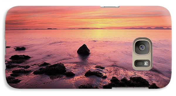 Galaxy Case featuring the photograph Kintyre Rocky Sunset by Grant Glendinning
