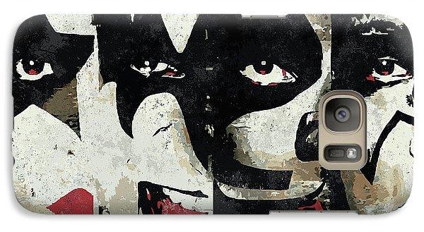 Rock And Roll Galaxy S7 Case - Kiss Art Print by Geek N Rock