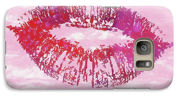 Galaxy Case featuring the mixed media Kiss Like You Mean It by Dan Sproul