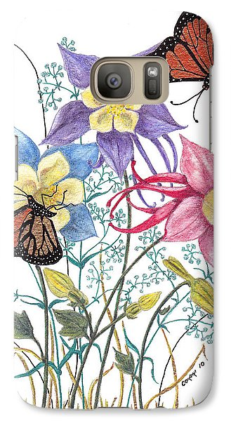 Galaxy Case featuring the painting Kiss The Sun by Stanza Widen