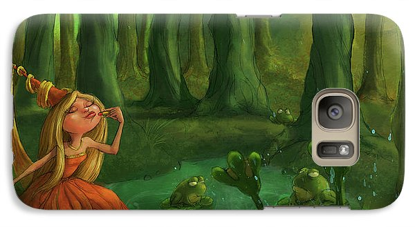 Castle Galaxy S7 Case - Kissing Frogs by Andy Catling