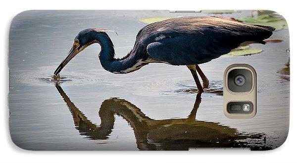 Galaxy Case featuring the photograph Kissing Heron by Allen Biedrzycki