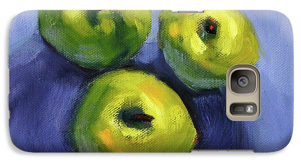 Galaxy S7 Case featuring the painting Kitchen Pears Still Life by Nancy Merkle
