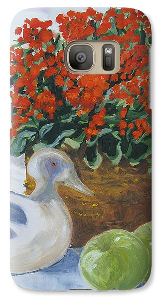 Galaxy Case featuring the painting Kitchen Table by Julie Todd-Cundiff