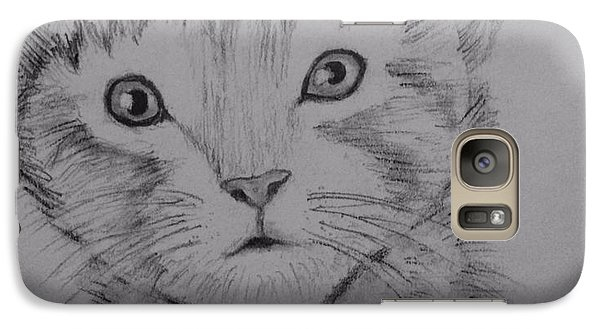 Galaxy Case featuring the painting Kitten by Brindha Naveen