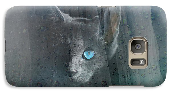 Galaxy Case featuring the photograph Kitty At The Window by Chris Armytage