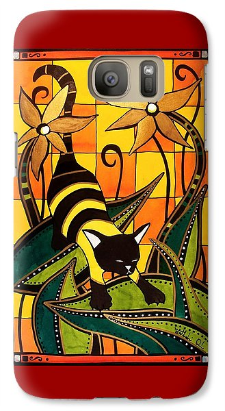 Kitty Bee - Cat Art By Dora Hathazi Mendes Galaxy S7 Case