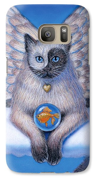 Goldfish Galaxy S7 Case - Kitty Yin Yang- Cat Angel by Sue Halstenberg