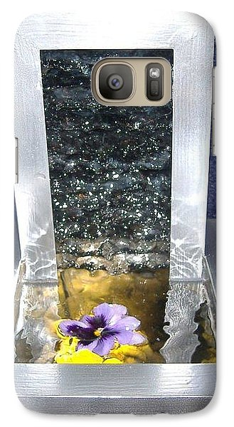 Galaxy Case featuring the sculpture Knapped Falls by Steve  Hester
