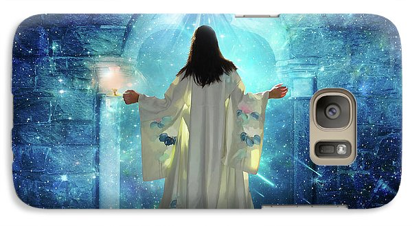 Galaxy Case featuring the digital art Knocking On Heavens Door by Dolores Develde