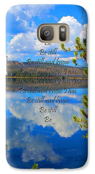 Galaxy Case featuring the photograph Know I Am by Diane E Berry