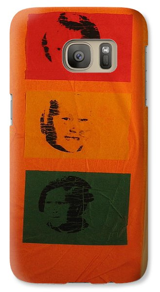 Galaxy Case featuring the mixed media Know When To Stop by Erika Chamberlin