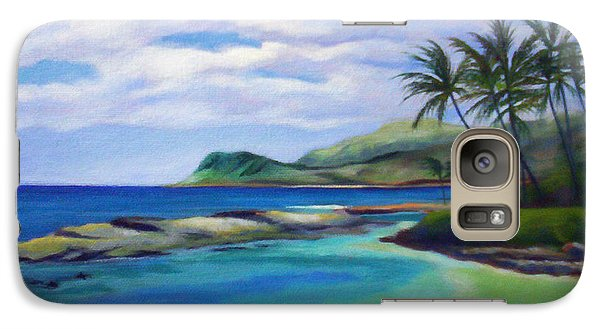 Galaxy Case featuring the painting Ko Olina Afternoon by Angela Treat Lyon