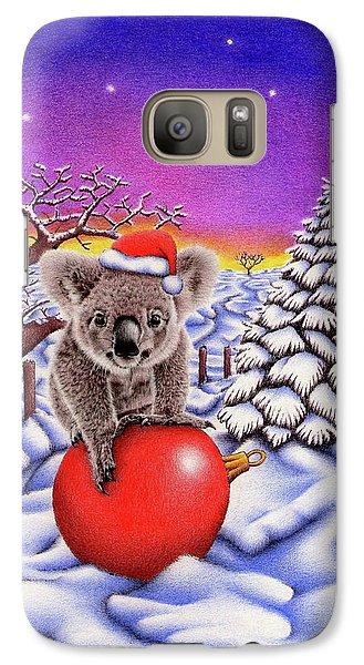 Koala On Christmas Ball Galaxy S7 Case by Remrov