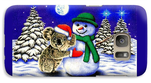 Koala With Snowman Galaxy S7 Case by Remrov