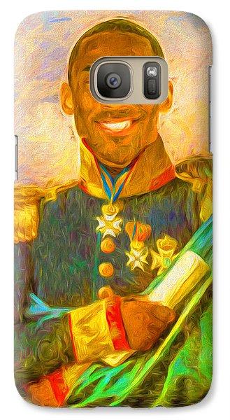 Kobe Bryant Floor General Digital Painting La Lakers Galaxy S7 Case