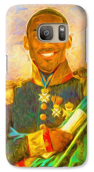 Kobe Bryant Floor General Digital Painting La Lakers Galaxy Case by David Haskett