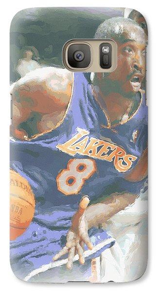 Kobe Bryant Lebron James Galaxy S7 Case by Joe Hamilton