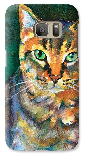 Galaxy Case featuring the painting Kodi by Christy Freeman