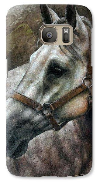 Horse Galaxy S7 Case - Kogarashi by Arthur Braginsky