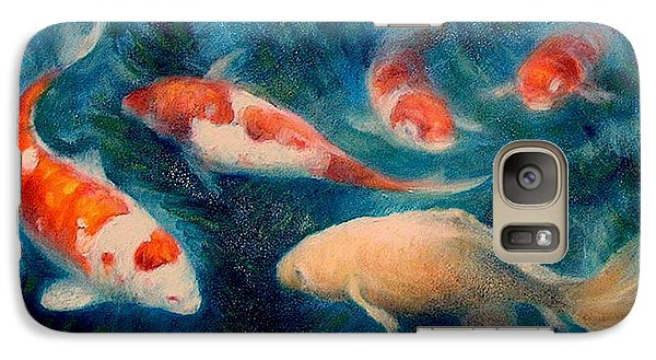 Galaxy Case featuring the painting Koi Ballet 2 by Donelli  DiMaria