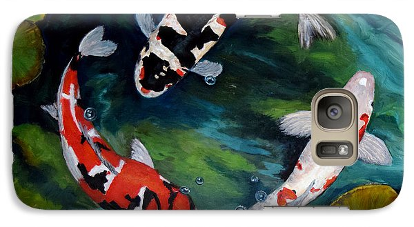Galaxy Case featuring the painting Koi Dance by Sandra Nardone