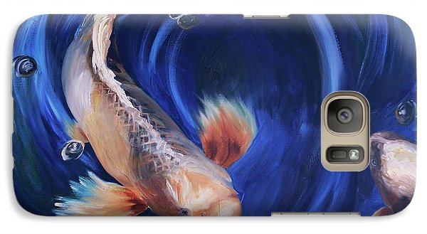 Galaxy Case featuring the painting Koi by Donna Tuten