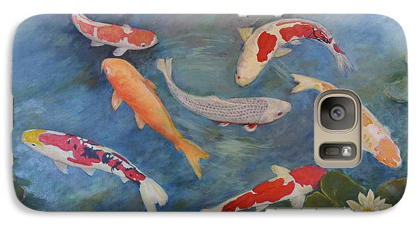 Galaxy Case featuring the painting Koi Iv by Sandra Nardone