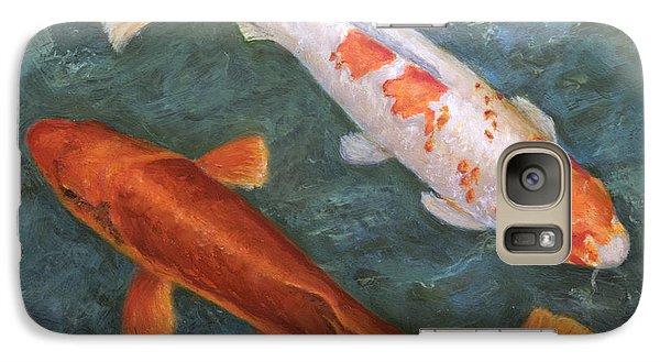 Galaxy Case featuring the painting Koi Pair by Sandra Nardone