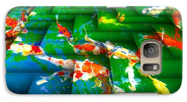 Galaxy Case featuring the digital art Koi Mosaic I by Manny Lorenzo