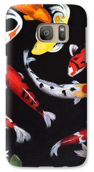 Galaxy Case featuring the painting Koi V by Sandra Nardone