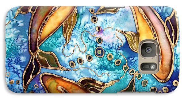 Galaxy Case featuring the painting Koiful by Pat Purdy