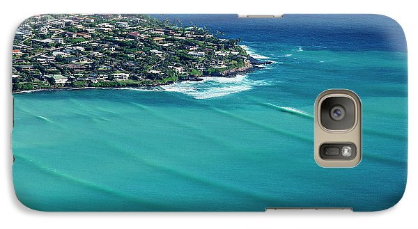 Helicopter Galaxy S7 Case - Koko Head Pastels by Sean Davey