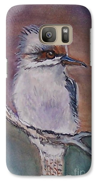 Galaxy Case featuring the painting Kookaburra Fancy by Leslie Allen
