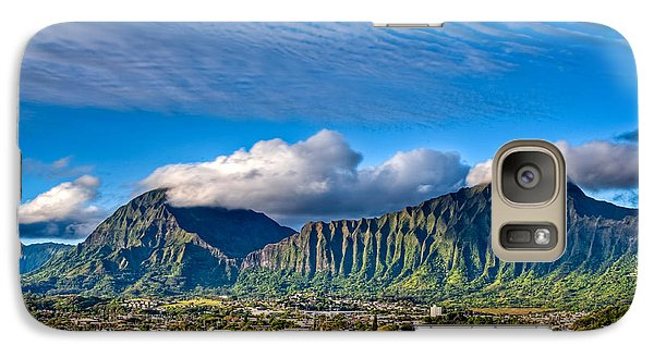 Galaxy Case featuring the photograph Koolau And Pali Lookout From Kanohe by Dan McManus